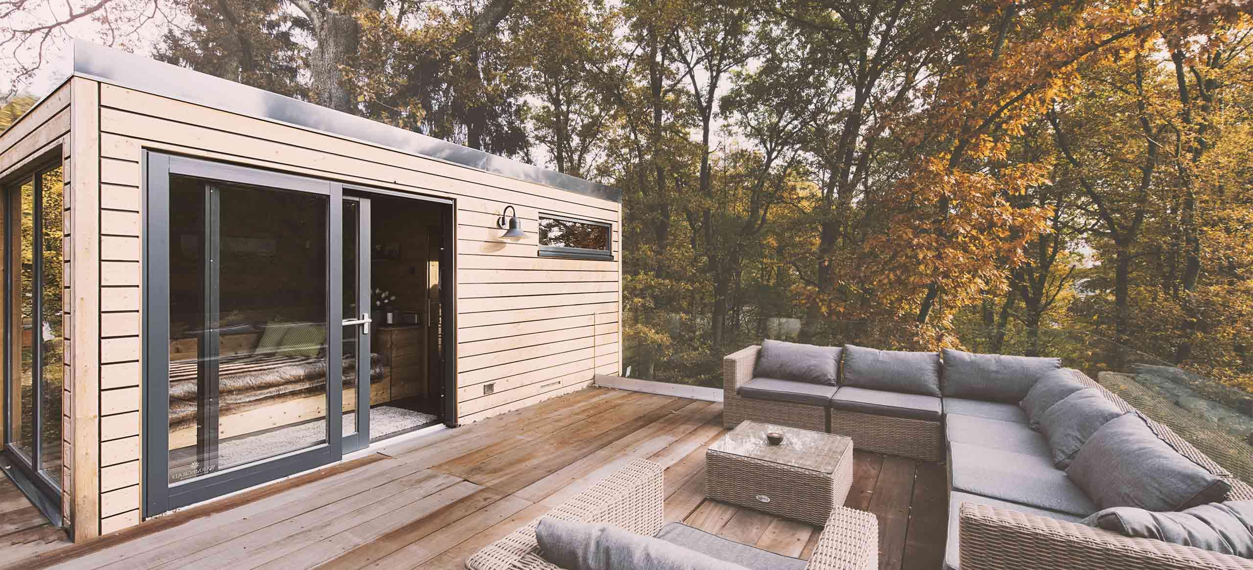 Wärmegrad Außensauna für den Garten - Whirlpool & Living